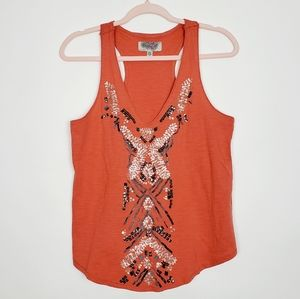Urban Outfitters Ecote Boho Sequin Racerback Tank